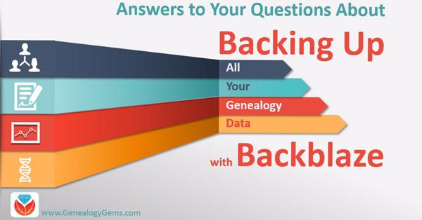 backing up your genealogy with Backblaze