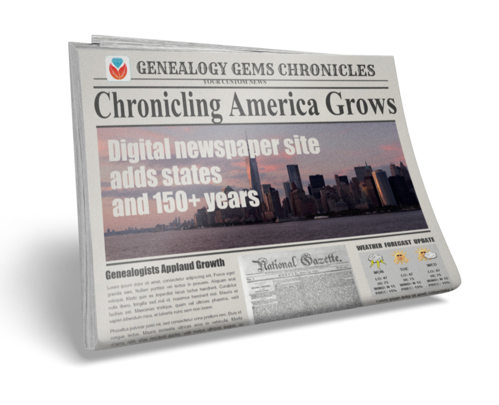 Chronicling America New Records – More Digital Newspapers Coming