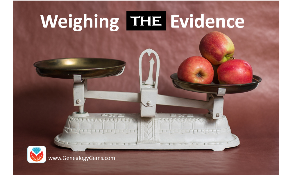 weigh conflicting evidence