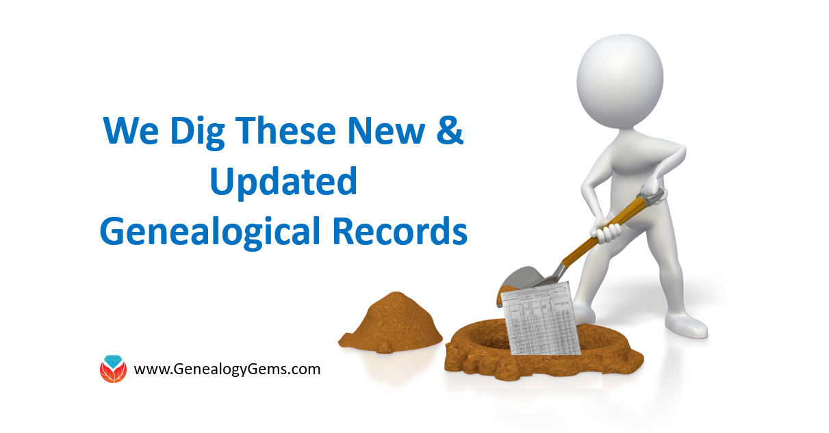 A Blizzard of New and Updated Genealogical Records