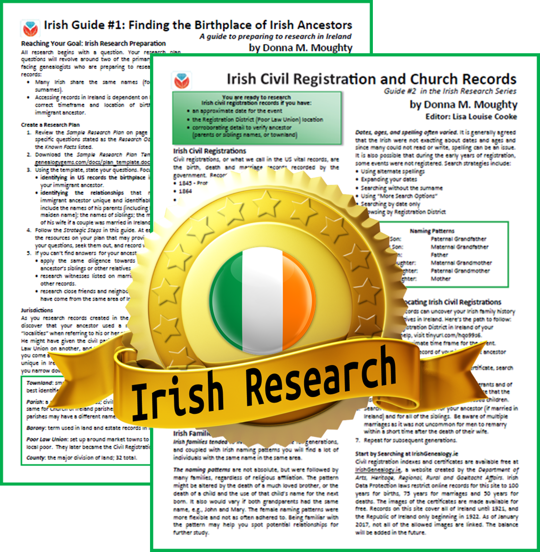 irish genealogy cheat sheet