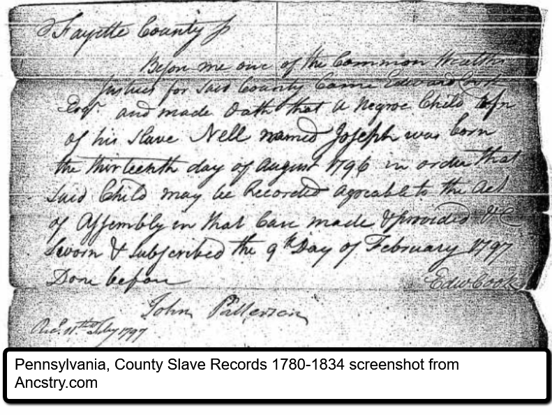 African American genealogy and slave records