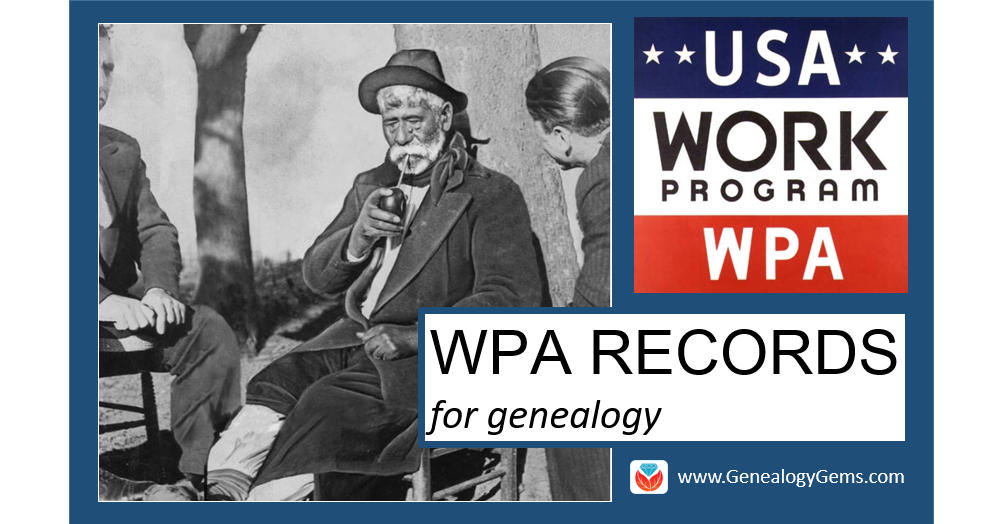 WPA records for genealogy