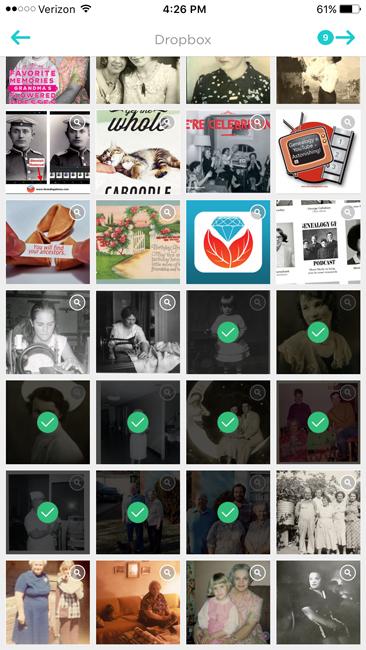 Animoto app pick photos