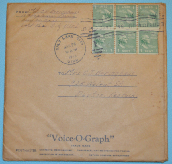 Voice-O-Graph Envelope