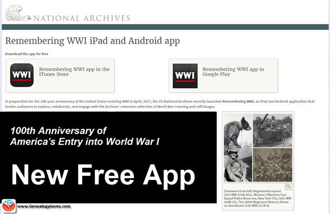 WWI Free App National Archives