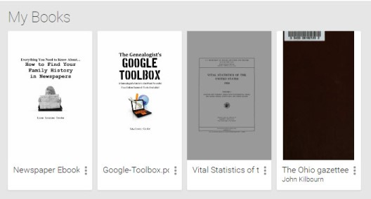 Google Play Books Library My Books