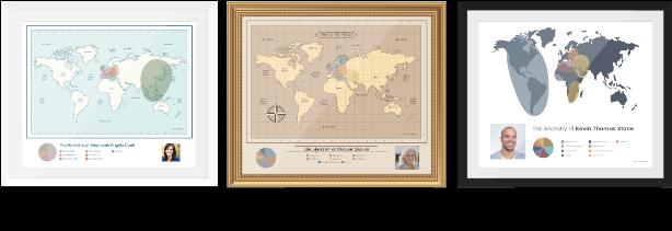 DNA ethnicity chart