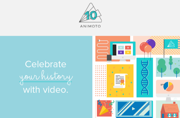 animoto 10 year anniversary