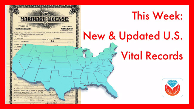 U.S. Vital Records new and updated