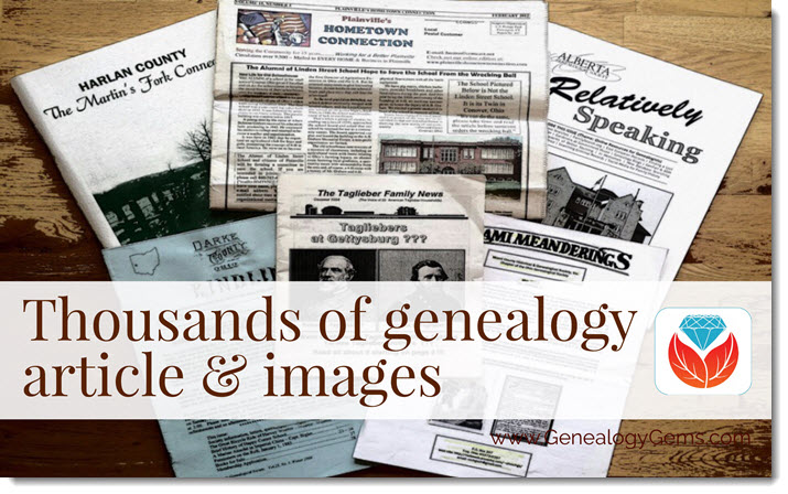 PERSI thousand of articles new genealogy records online