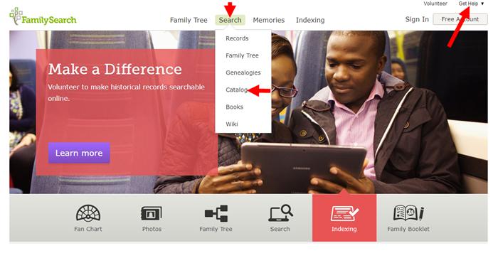 FamilySearch card catalog