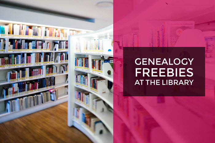 genealogy library freebies