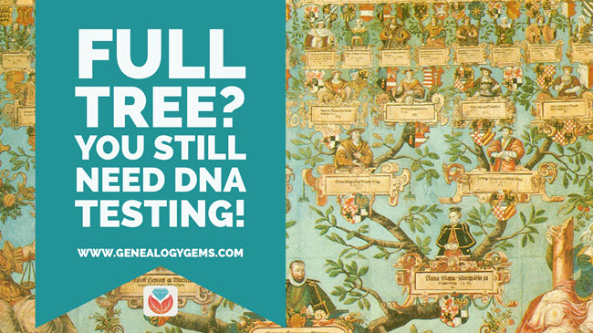 Full tree You still need DNA testing