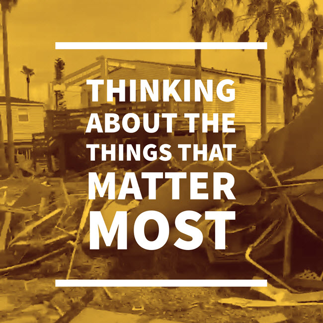 disaster recover things that matter most