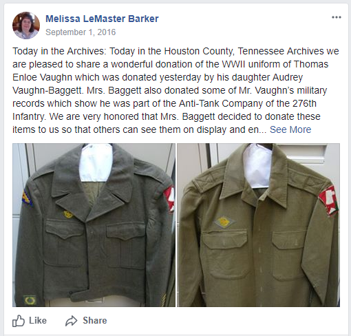 new archival collections uniforms