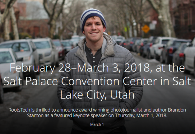 photo + story competition RootsTech 2018