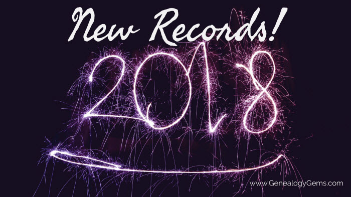new genealogy records for 2018new genealogy records for 2018
