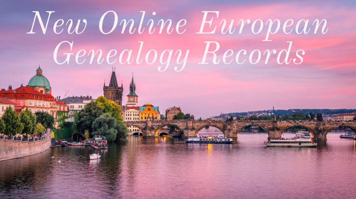 New European Genealogy Records Now Online