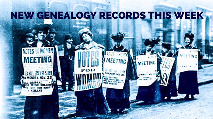 New Genealogy Records Include UK Suffragettes and Travelers' Records