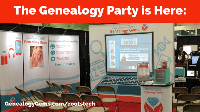 Party at the Genealogy Gems Booth: RootsTech 2018
