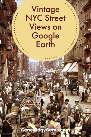 Vintage NYC Street View Google Earth Pinterest