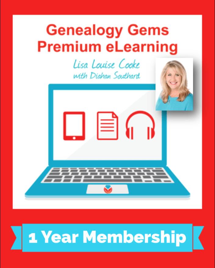 Genealogy Gems Premium eLearning Membership