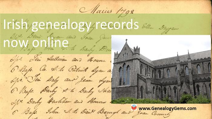 New Irish genealogy records and more