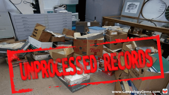 Finding Unprocessed Records at an Archive