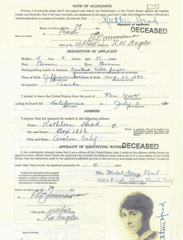 4) Oath of Allegiance passport for genealogy