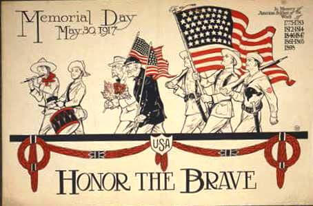 history of Memorial Day-1917 Poster