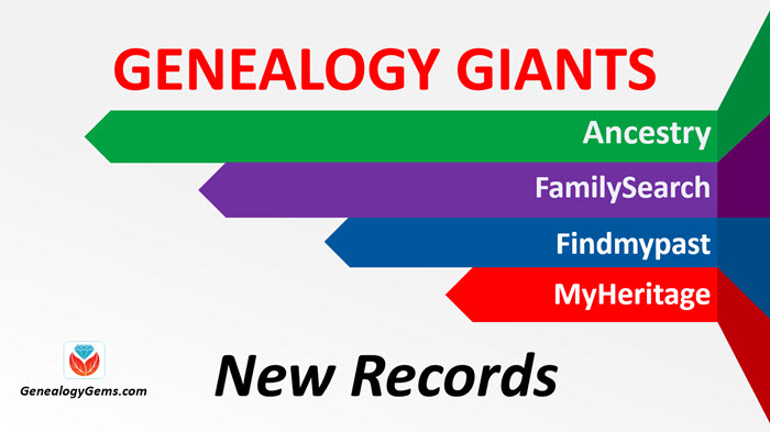 New Records on Ancestry.com, FamilySearch and Findmypast