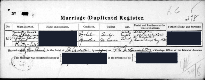 finding birth father DNA marriage record LTG image