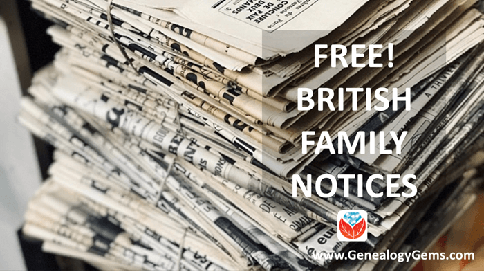 6M Free British Family Notices Now Online