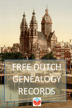 Free Netherlands genealogy records Pinterest