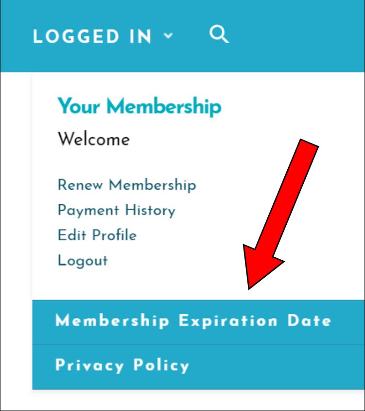 membership expiration