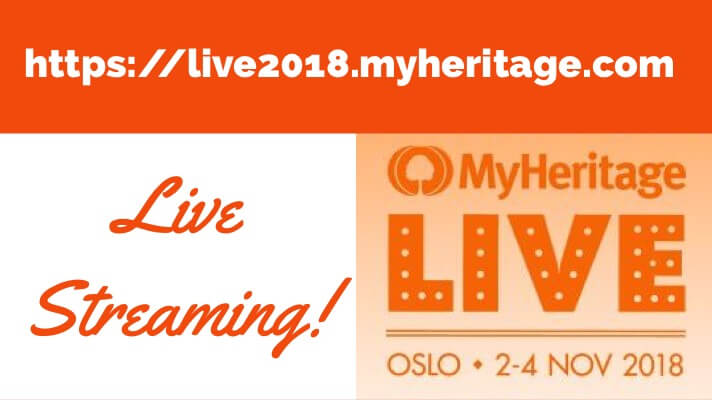 Live Streaming Announced for MyHeritage LIVE!