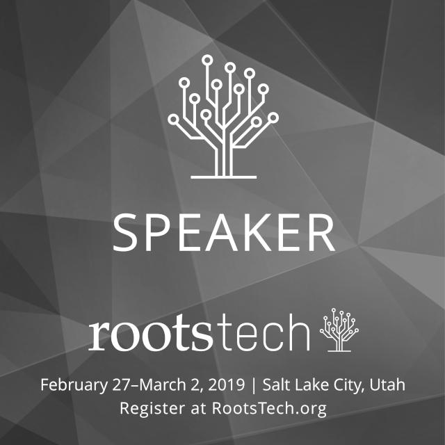 Rootstech speaker 2019
