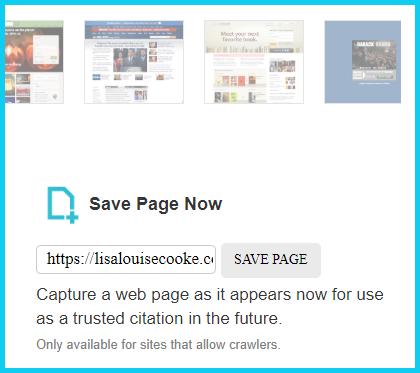 save this page Wayback Machine