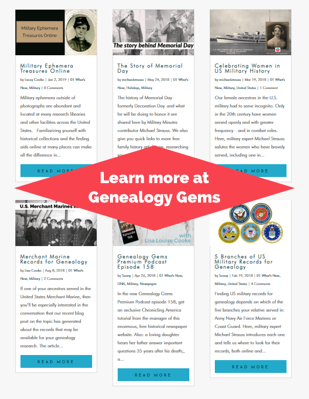 Military History at Genealogy Gems