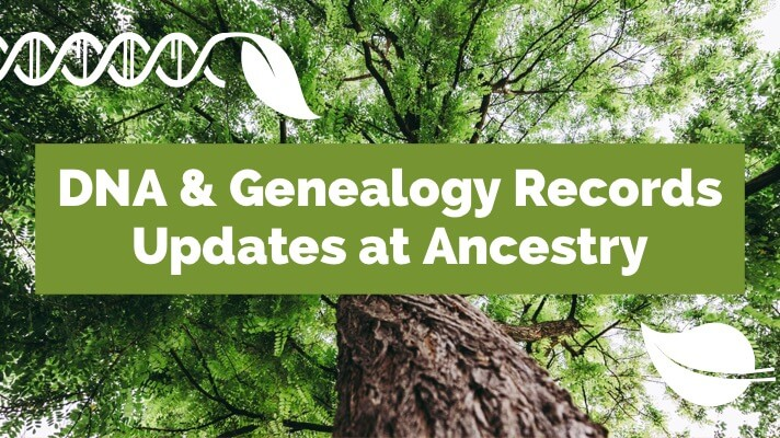 DNA and Genealogy Records Updates at Ancestry