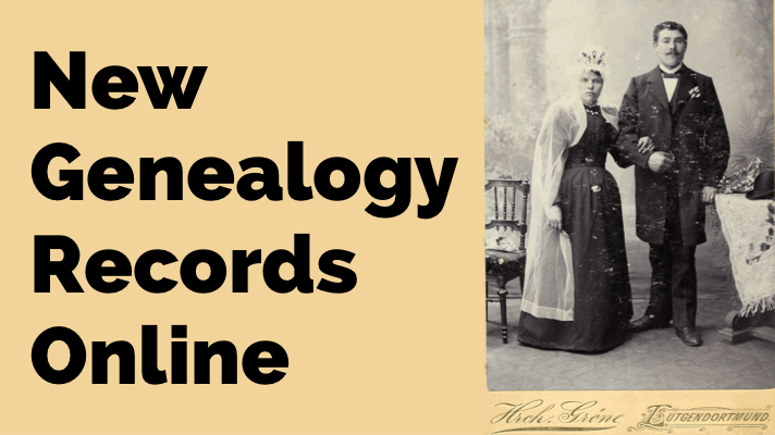 New German Genealogy Records Online & More