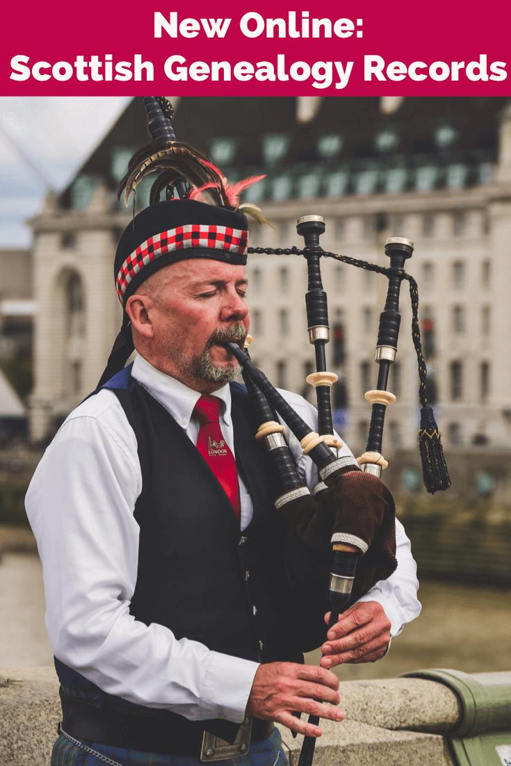 new genealogy records Scottish Scotland Census