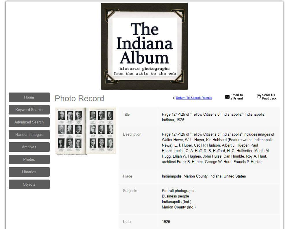 indiana album website