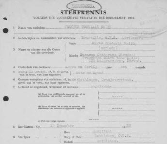 south african genealogy record