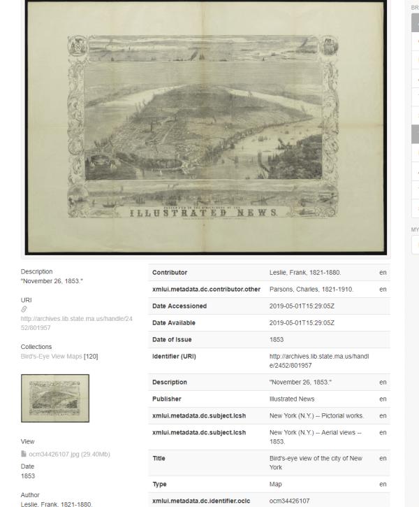 new york map 1853