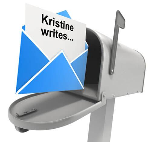 Kristine's email