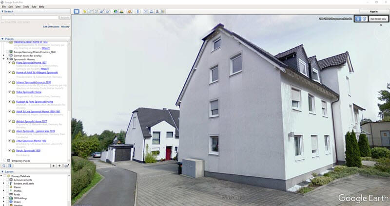 House of my Germany ancestor found in Google Earth