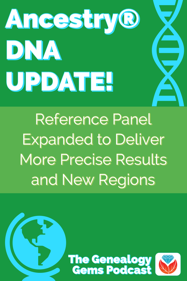 Ancestry DNA ethnicity update