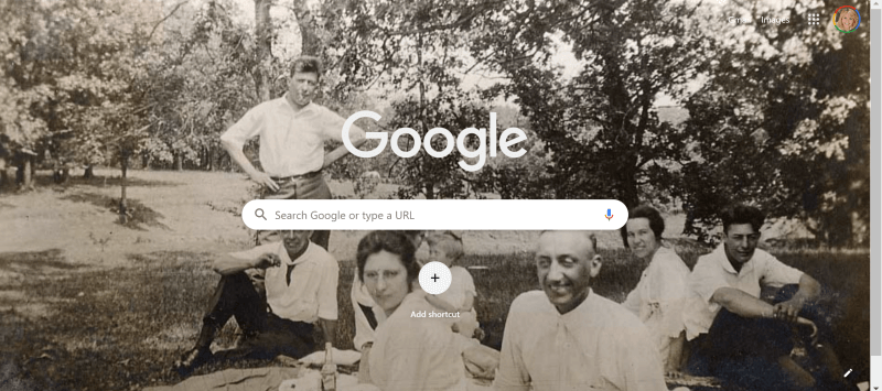 Chrome new browser tab with custom image